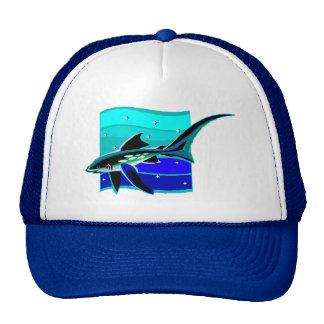 Funky Blue Shark Trucker Hat