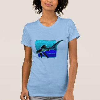 Funky Blue Shark Tshirts