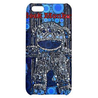 Funky Blue Sock Monkey Circles Bubbles Pop Art iPhone 5C Covers