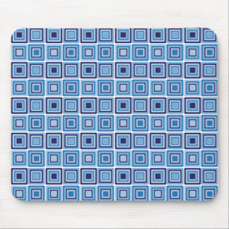 Funky Blue Squares Mousepad