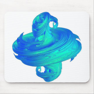 Funky Blue Top Design Mouse Pad