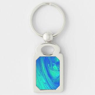Funky Blue Top Keychain
