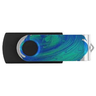 Funky Blue Top Swivel USB 2.0 Flash Drive
