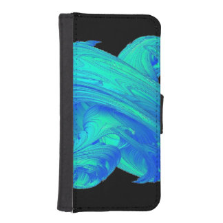Funky Blue Top Wallet Phone Case For iPhone SE/5/5s