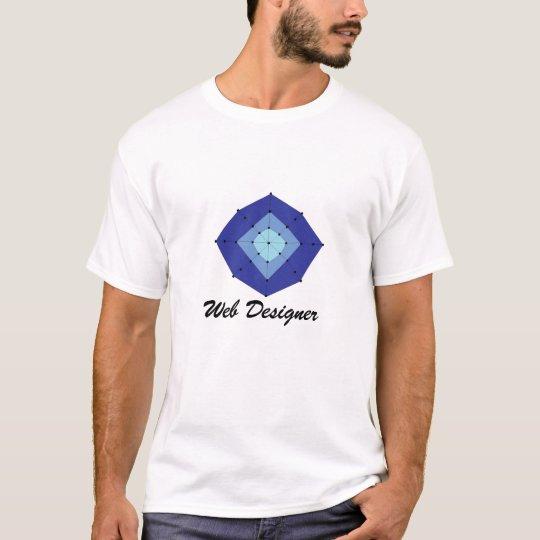 Funky Blue Web Designer T-Shirt