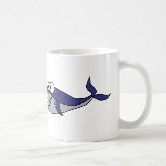 Funky Blue Whale Cartoon Design Coffee Mug