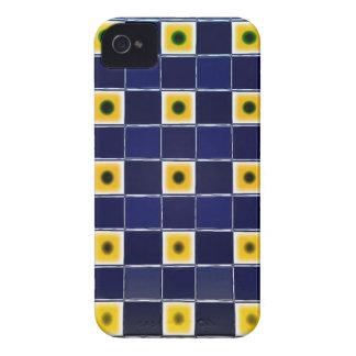 Funky Blue Yellow Block Pattern Blackberry Case
