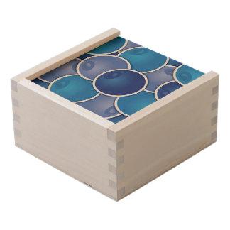 Funky blueberry wooden keepsake box