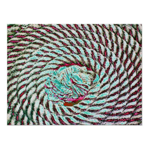 funky boat rope poster Print