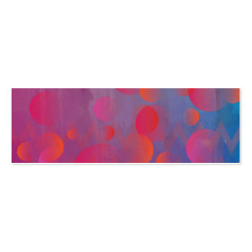 Funky Bold Fire and Ice Geometric Grunge Design Business Cards