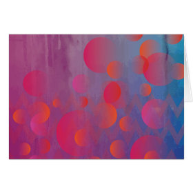 Funky Bold Fire and Ice Geometric Grunge Design Greeting Cards