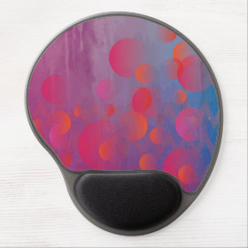 Funky Bold Fire and Ice Geometric Grunge Design Gel Mouse Pad