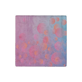 Funky Bold Fire and Ice Geometric Grunge Design Stone Magnet