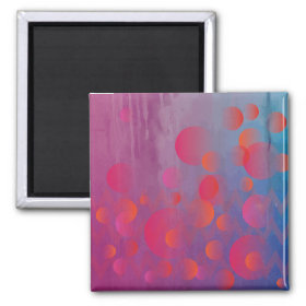 Funky Bold Fire and Ice Geometric Grunge Design Refrigerator Magnets
