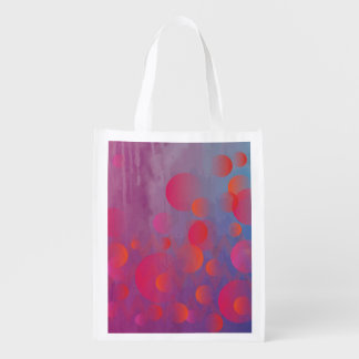 Funky Bold Fire and Ice Geometric Grunge Design Market Tote