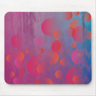 Funky Bold Fire and Ice Geometric Grunge Design Mouse Pad