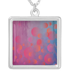 Funky Bold Fire and Ice Geometric Grunge Design Personalized Necklace