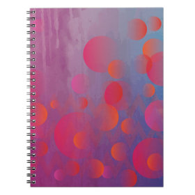 Funky Bold Fire and Ice Geometric Grunge Design Spiral Note Books