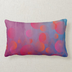Funky Bold Fire and Ice Geometric Grunge Design Throw Pillow