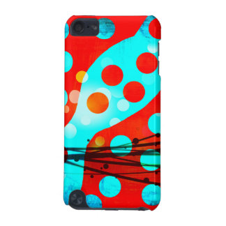 Funky Bold Red Blue Abstract Polka Dots Design iPod Touch 5G Cases