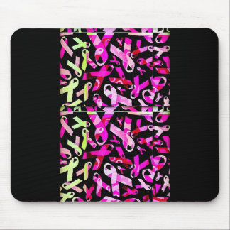 Funky Breast Cancer Ribbons Mouse Pad