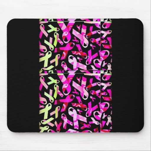 Funky Breast Cancer Ribbons Mousepads
