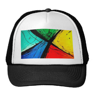Funky Bright Abstract Art Painting Trucker Hat