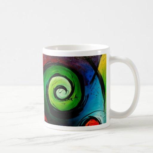 Funky Bright  Abstract Art Painting Mug