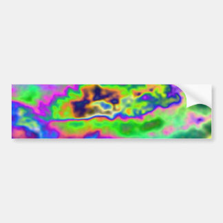 Funky Bright Abstract Pattern Bumper Stickers