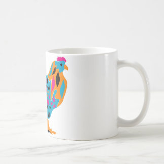 Funky Bright Chicken Coffee Mug