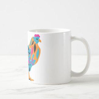 Funky Bright Chicken Coffee Mugs