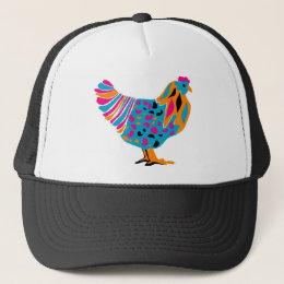 Funky Bright Chicken Trucker Hat