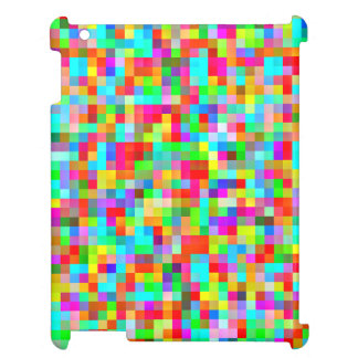 Funky Bright Colorful Pixels Mosaic iPad Cases