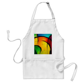 Funky Bright Colors Abstract Art Apron