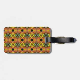 Funky Bright Fall Colors Tribal Pattern Bag Tag