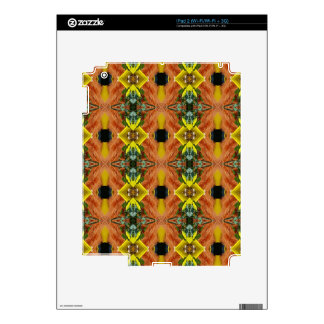 Funky Bright Fall Oranges Yellow Tribal Pattern Skin For The iPad 2