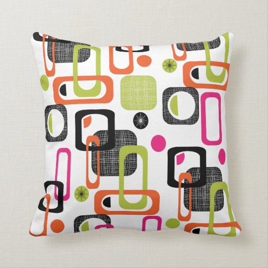 Funky bright fresh colorful geometric fabric print throw - Fabric for throw pillows ...