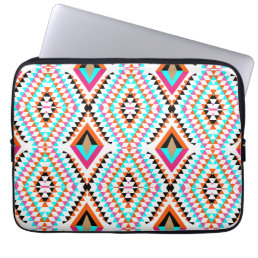 Funky Bright Fresh Colorful Geometric Graphic Computer Sleeve