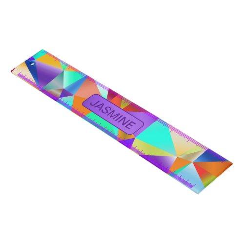 Funky Bright Geometric … Personalize Ruler