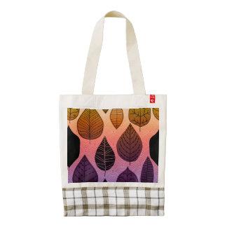 Funky Bright Leaf Design Zazzle HEART Tote Bag
