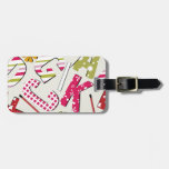 Funky Bright Letters with Patterns Tag For Bags