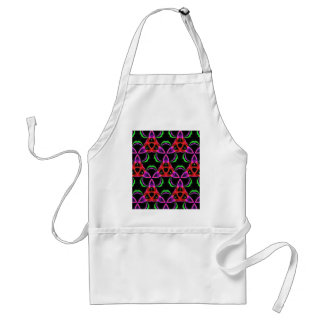 Funky Bright Neon Colors Seamless Pattern Adult Apron