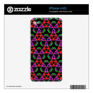 Funky Bright Neon Colors Seamless Pattern iPhone 4 Decal