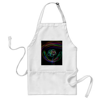 Funky Bright Neon Rainbow Over flower Color Sketch Adult Apron