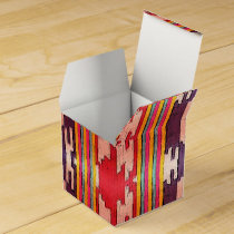 Funky Bright Purple and Red Tribal Pattern Favor Box