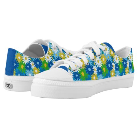 Funky bright spring daisies Low-Top sneakers