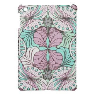 funky bright swirl art nouveau abstract design iPad mini cover