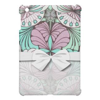 funky bright swirl art nouveau abstract design iPad mini case