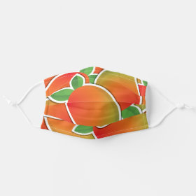 Funky bright tropical mango fruit pattern cloth face mask