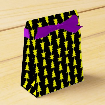 Professional Business Funky Bright Yellow Fir Christmas Tree Favor Box